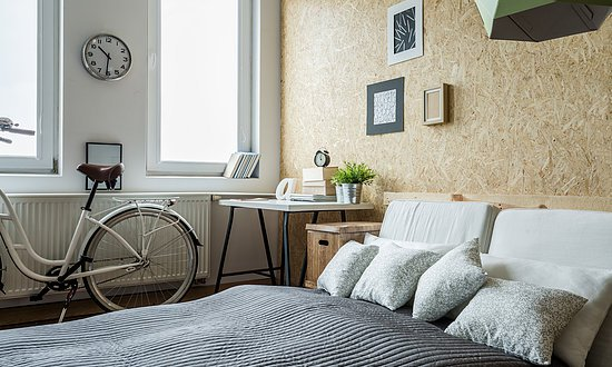 Bicycle in bedroom